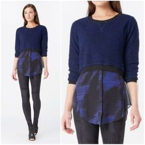 Elie Tahari For Design Nation Sweater Button Top